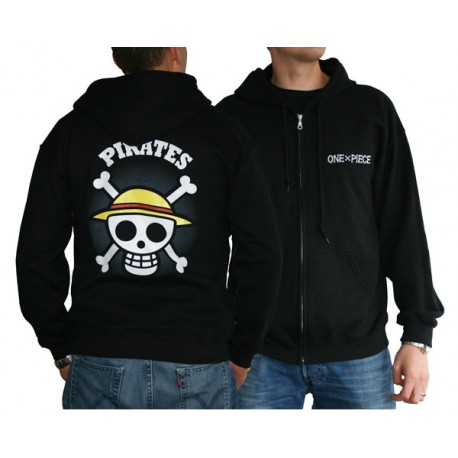 sweat shirt one piece skull with map