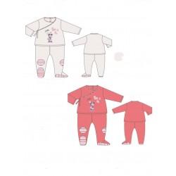 pyjama velours disney minnie blanc (1 à 9 mois)