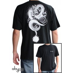 t-shirt dragon ball z shenron noir et blanc