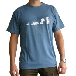 t-shirt homme lapins crétins : evolution