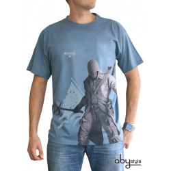 t-shirt assassin's creed : asc iii connor debout