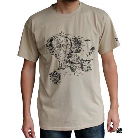 t-shirt le seigneur des anneaux : la carte