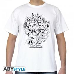 t-shirt saint seiya chevaliers de bronze