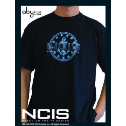 t-shirt ncis : navy blue logo