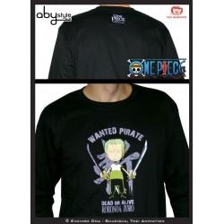 t-shirt one piece premium homme noir zoro
