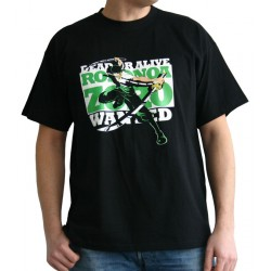 t-shirt one piece wanted zoro