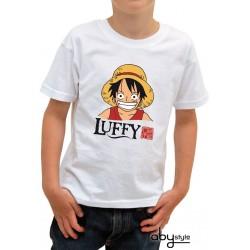 t-shirt one piece enfant luffy head
