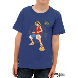 t-shirt one piece enfant luffy fight