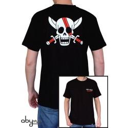 t-shirt one piece homme shanks skull