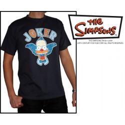 t-shirt simpsons dark grey krusty joker