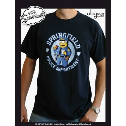 t-shirt simpsons homme navy blue police