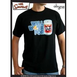 t-shirt simpsons homme noir duff
