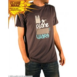 star wars - t-shirt homme the clone wars artwork