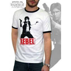 t-shirt star wars basic homme han solo rebel