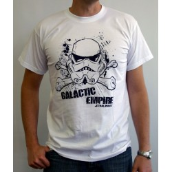 t-shirt star wars galactic empire blanc