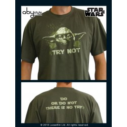 t-shirt star wars kaki yoda