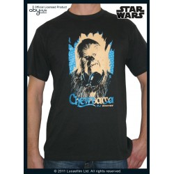 t-shirt star wars dark grey dj wookie