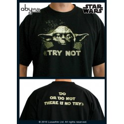 t-shirt star wars noir yoda
