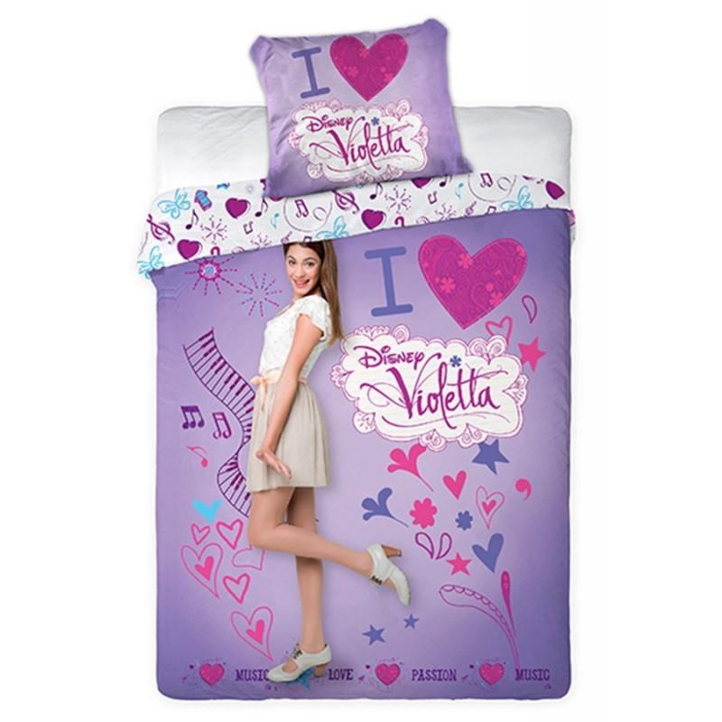 housse de couette violetta i love la boutique des vrais fans. Black Bedroom Furniture Sets. Home Design Ideas
