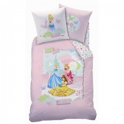 housse de couette + taie disney princesse dreaming love
