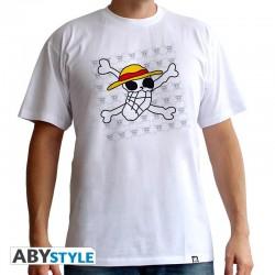 T-Shirt ONE PIECE - Basic Homme Skull Dessin De Luffy