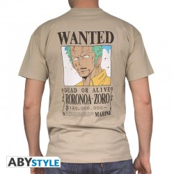 T-Shirt ONE PIECE - Basic Homme Wanted Zoro