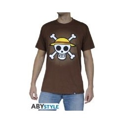 T-Shirt One Piece - Basic Homme Chocolat Skull With Map
