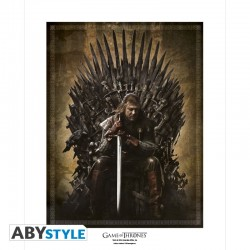 GAME OF THRONES Collector Artprint Game of Thrones Trône