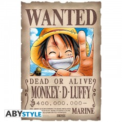 Parchemin ONE PIECE Avis de recherche Luffy