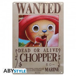 Plaque metal ONE PIECE Chopper wanted