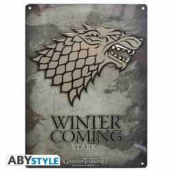 Plaque métal GAME OF THRONES Stark