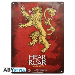 Plaque métal GAME OF THRONES Lannister