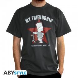 t-shirt simpsons bart my friendship