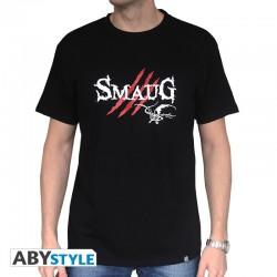 """THE HOBBIT - Tshirt """"Smaug"""" homme MC black - basic *"""