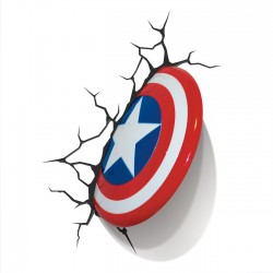 Lampe 3D LED Captain America Shield Marvel Comics