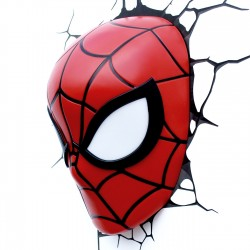 Lampe 3D LED Spider-Man Mask Marvel Comics