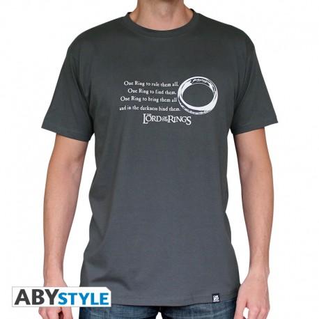 Tshirt llrd of the ring Anneau homme MC dark grey basic