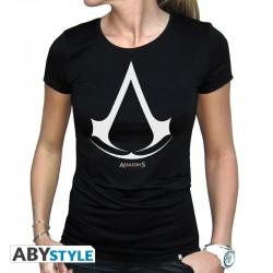 T-shirt assassin's creed Logo femme MC black