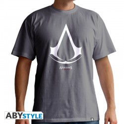 T-shirt assassin's creed Logo homme MC grey