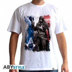 t-shirt assassin's creed AC5 Drapeau homme MC white