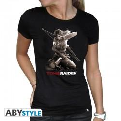 T-Shirt TOMB RAIDER Lara A Genoux Femme
