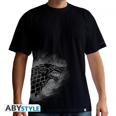t-shirt game of thrones : Stark Spray homme mc black