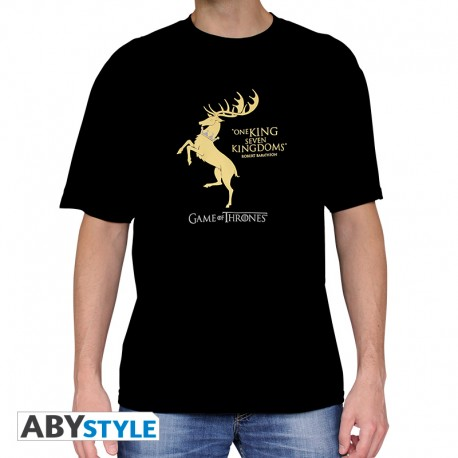 t-shirt game of thrones :Baratheon homme MC black