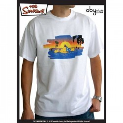 T-Shirt SIMPSON Homer On The Beach Homme