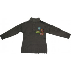 pull col montant disney mickey gris (2 à 6 ans)
