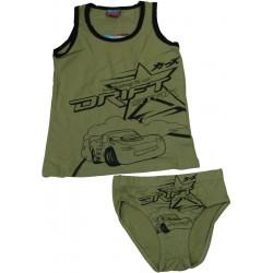 ensemble tshirt+slip cars kaki (2-8 ans)