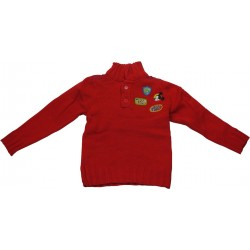 pull col montant disney mickey rouge (2 à 6 ans)