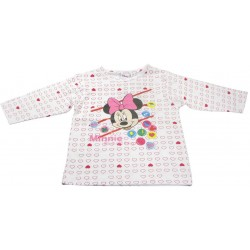 t-shirt minnie manche longue petit coeur (2 à 6 ans)