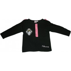 tshirt princess noir (2 à 6 ans)