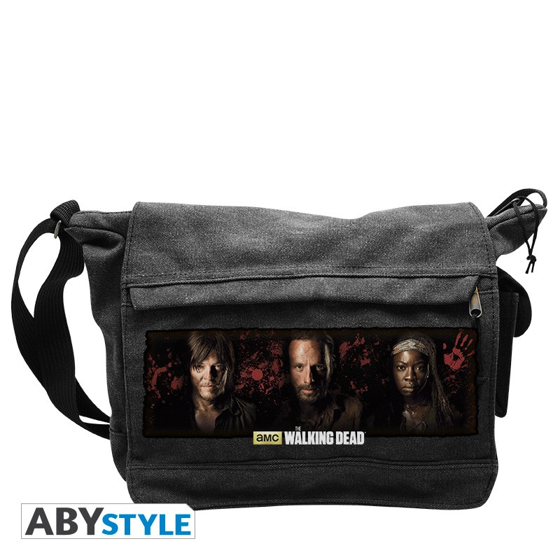 sac besace walking dead rick daryl michonne grand. Black Bedroom Furniture Sets. Home Design Ideas